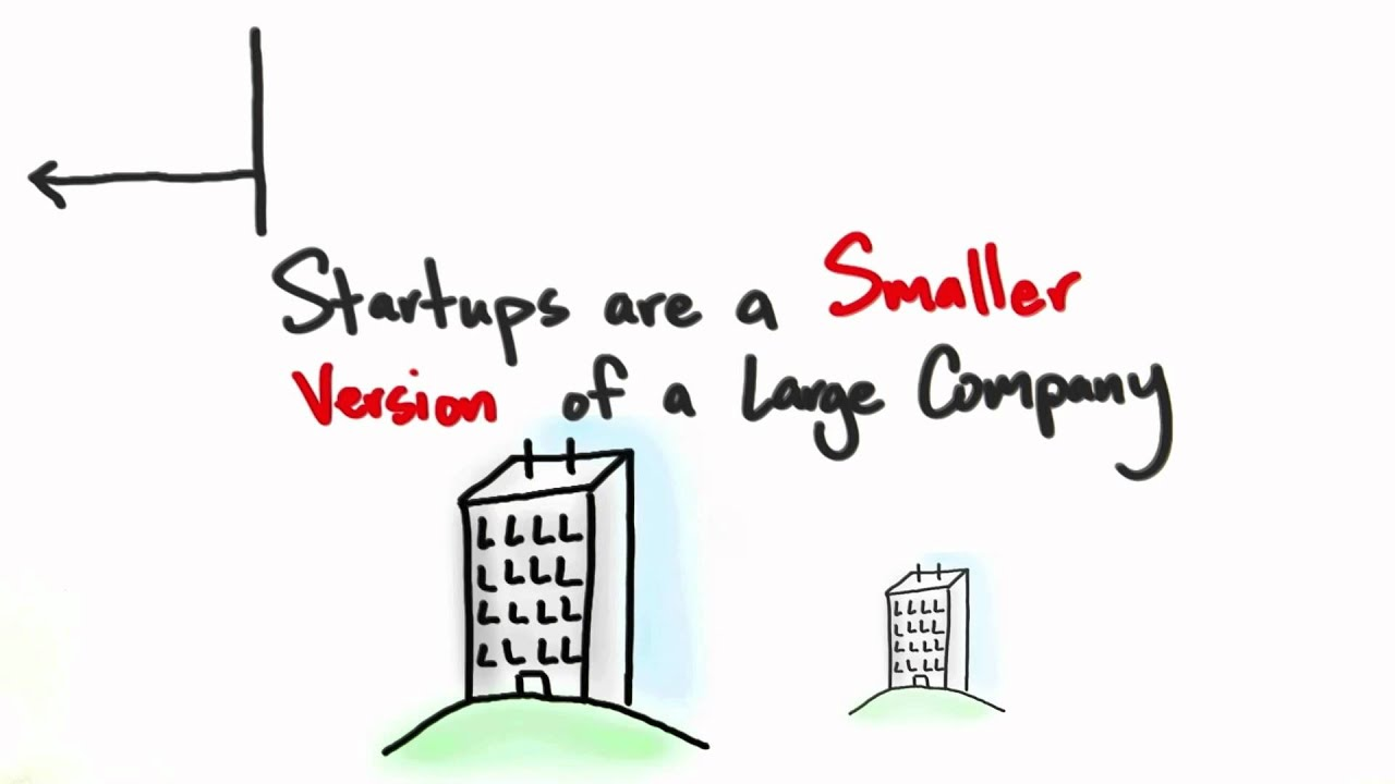 Startups Are Not Smaller Versions Of Large Companies - How to Build a Startup