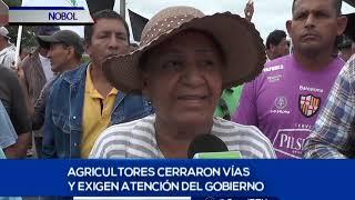 Productores de arroz protestaron en Nobol