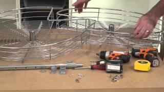 corner rotating baskets installation | kaboodle kitchen