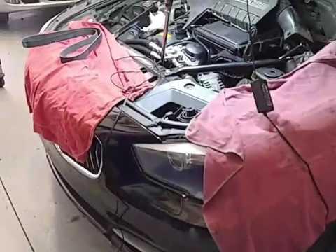 2011 BMW 535i GT SERPENTINE BELT REMOVAL - YouTube