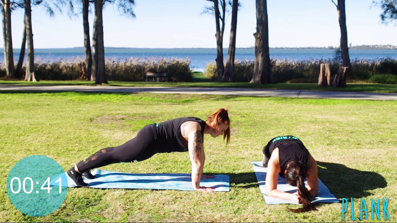 Core Plank Off with Tahnee and Kimbo
