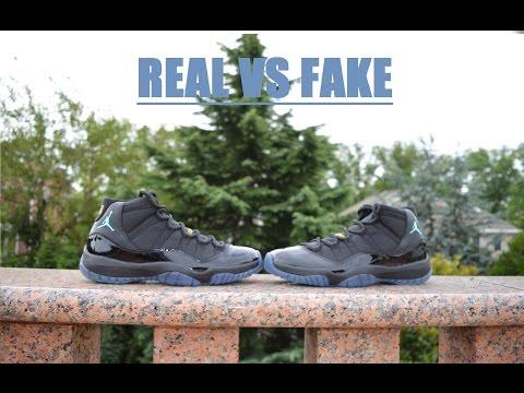 san francisco 2a5b0 47273 Air Jordan 11 Retro GAMMA BLUE REAL VS FAKE COMPARISON RECENT FLAWS!!! -  YouTube