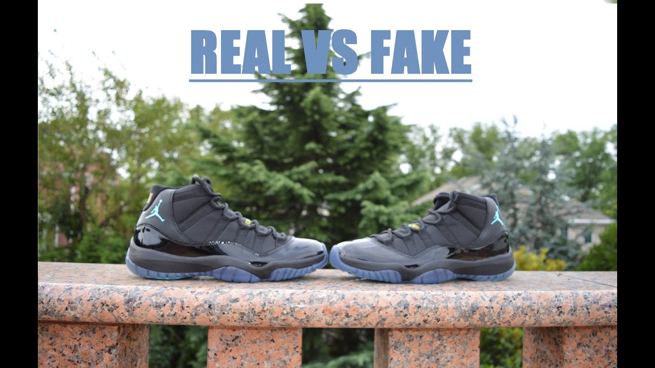 designer fashion ab8df fdb0f Air Jordan 11 Retro GAMMA BLUE REAL VS FAKE COMPARISON RECENT FLAWS!!!