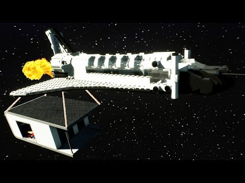 We Tried To Launch a Lego House into Space to Live There in Brick Rigs