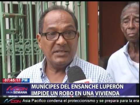 Munícipes del Ensanche Luperón impide un robo en una vivienda