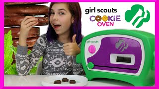 GIRL SCOUTS COOKIE OVEN | DIY YUMMY COOKIES | REVIEW & TASTING