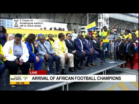 Arrival of African football Champions