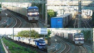 2017/09/13 JR貨物 早朝の鷲津駅東から54レ 1068レ 1055レ