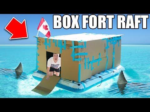 BOX FORT BOAT SURVIVAL CHALLENGE! 📦