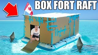 BOX FORT BOAT SURVIVAL CHALLENGE! 📦
