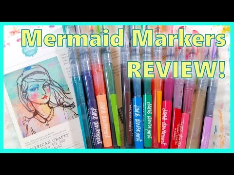 NEW Mermaid Markers by Jane Davenport Mixed Media Review & Demo