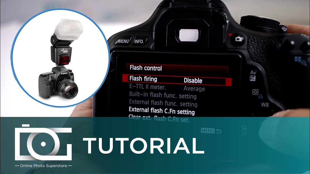 FLASH TUTORIAL | Error: Menu Cannot Be Displayed Due To Incompatible Flash  | CANON Cameras