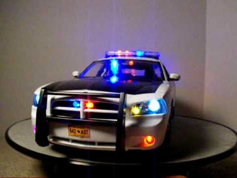 1 18 Alaska State Troopers Dodge Charger W Lights Custom