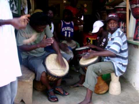 African Drum Circle in Accra Ghana Cultural Arts center 4