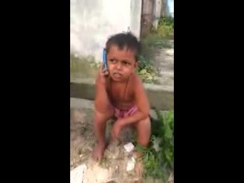 Child talking in Hindi/bhojpuri