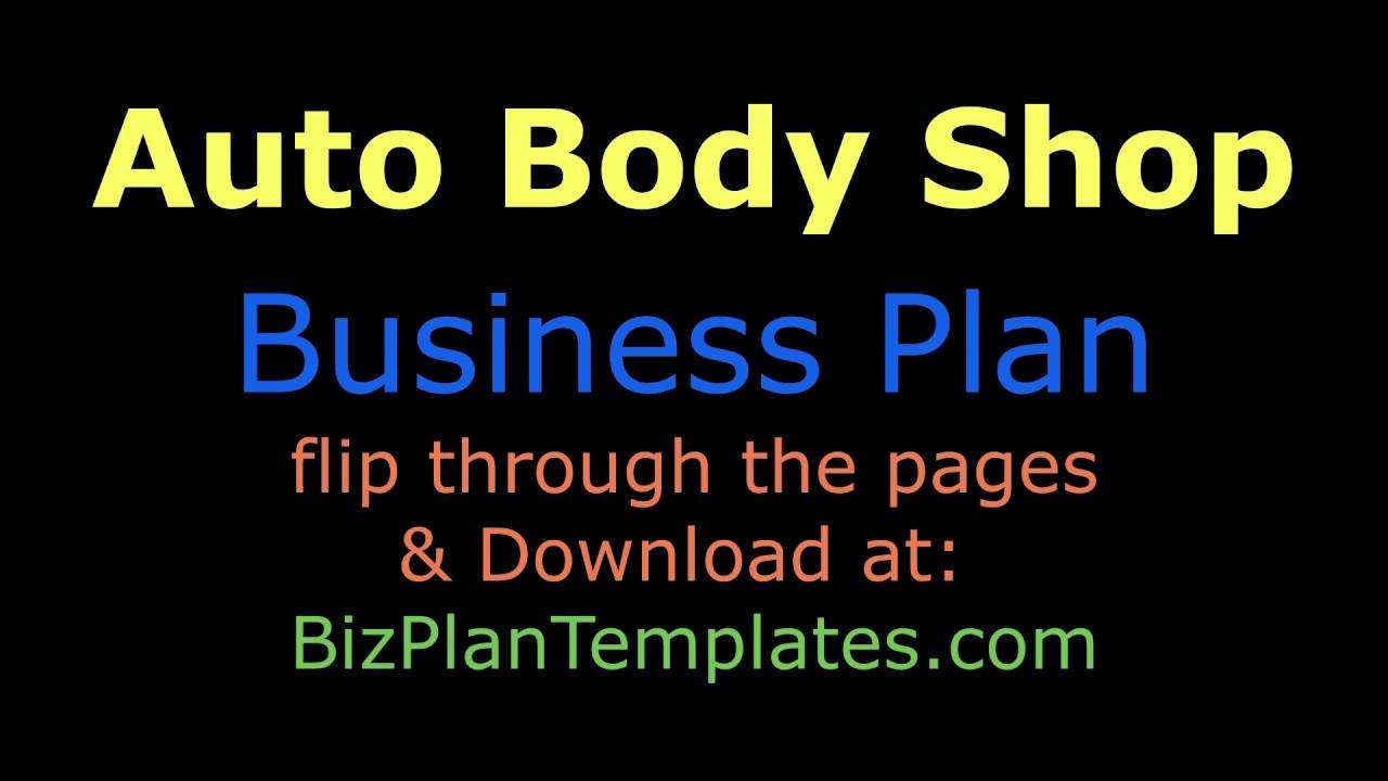 body shop business plan