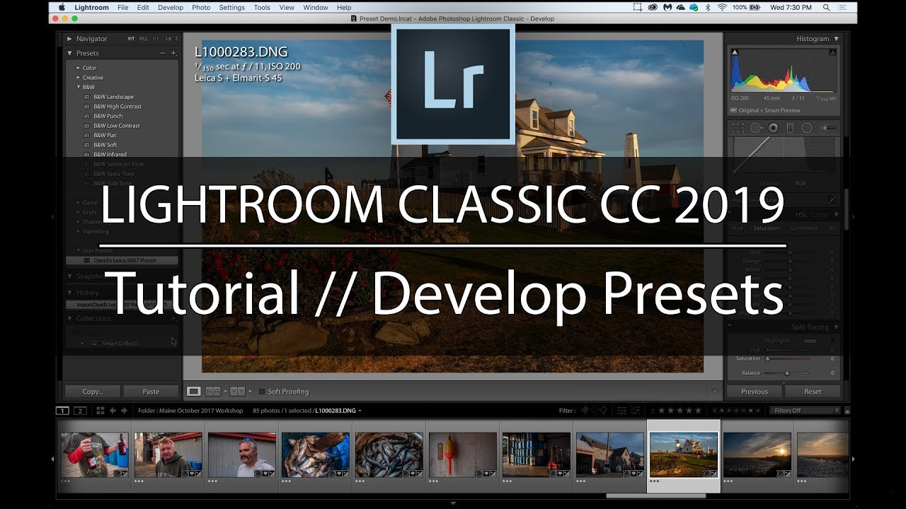 How to Create and Use Develop Presets in Adobe Lightroom Classic CC 2019