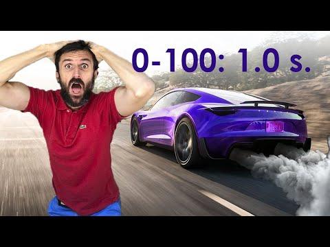 La aceleración del Tesla Roadster FE I ¡INFERNAL!