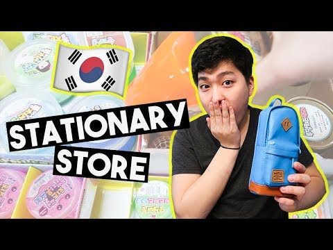 Real Life Korean Stationery Store! *brother got emotional* |