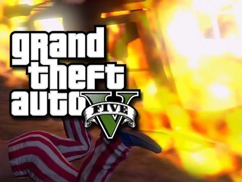 GTA 5 Online Funny Moments!! - Cool Guys Don't Look at Explosions!