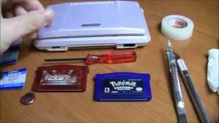 replacing game boy advance cartridge battery solderless
