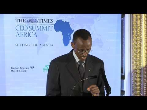 """We are ready for business"" President Kagame at Times CEO Summit Africa   London, 21 March 2011"