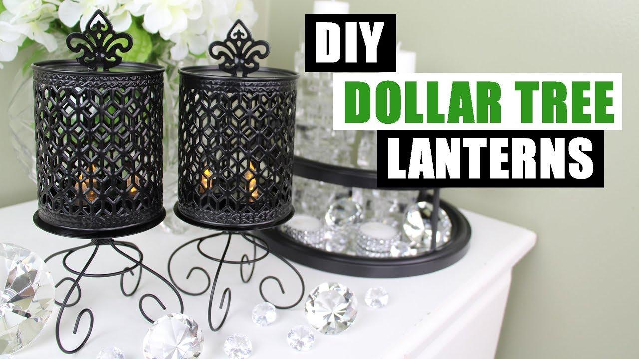 Diy Dollar Tree Lanterns Diy Candle Holders Youtube
