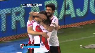 Gol de Alario. Vélez 0 River 1. Fecha 29. Torneo Primera División 2015.FPT