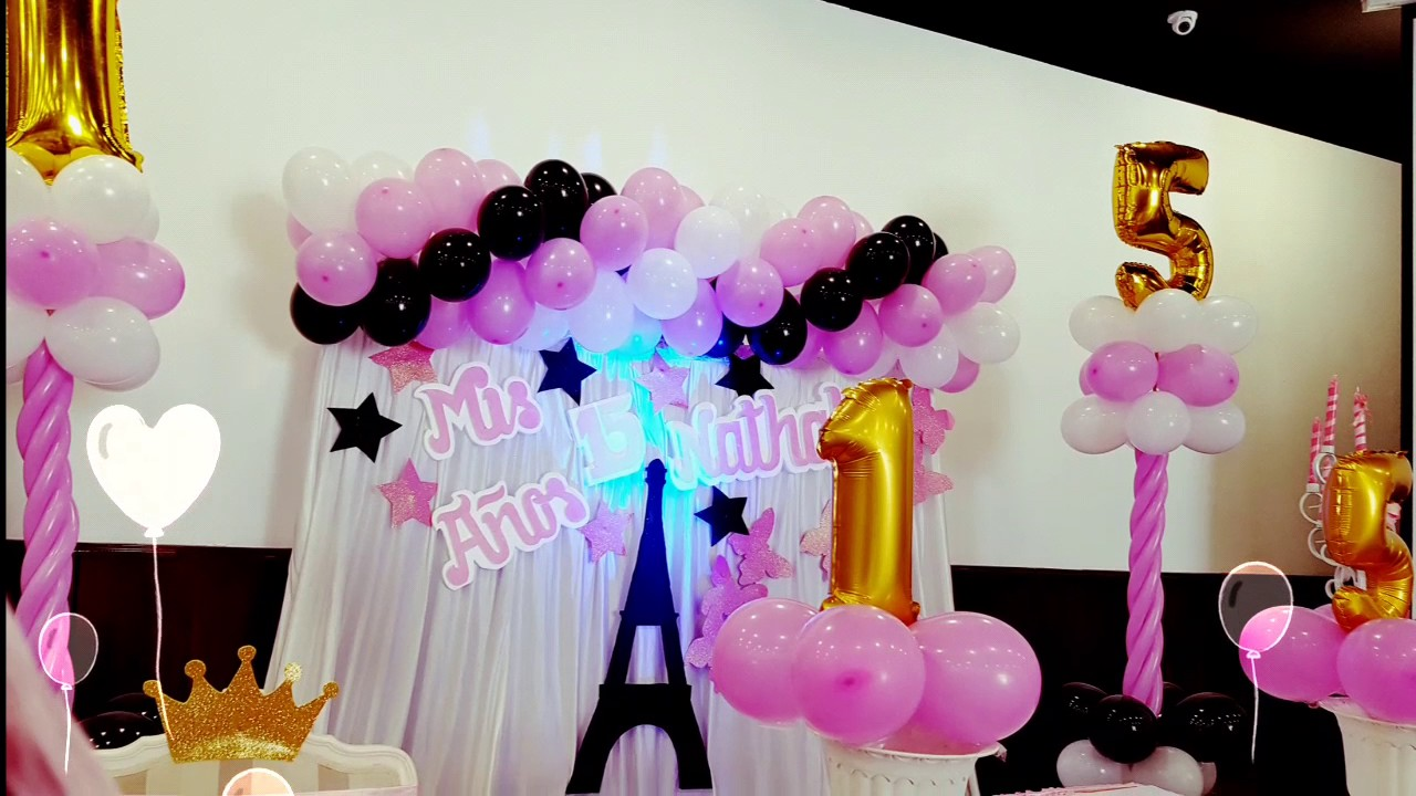 Decoracion fiesta party par s youtube for Decoracion de i