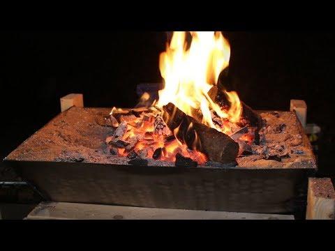 DIY forge and black smithing set up