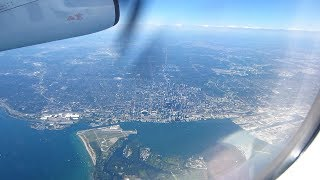 Taking off from Toronto's Pearson Airport & Flying by Downtown Toronto