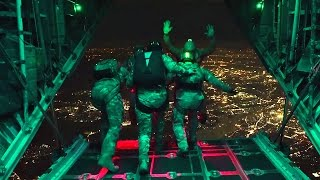 Air Force Special Operations Night Jump – Static & HALO Jumps Out Of C-130H