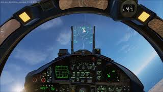 DCS World - Eagle Flight engaging MiG 29