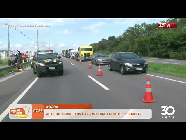Acidente entre dois carros deixa um homem morto e cinco feridos - Tambaú da Gente Manhã