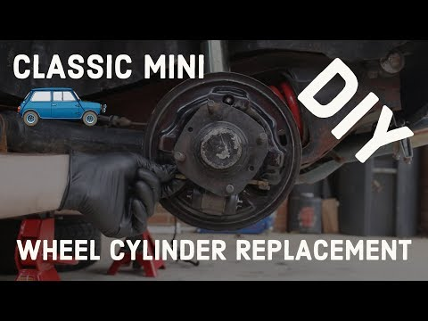 classic mini diy - replacing rear wheel brake cylinders