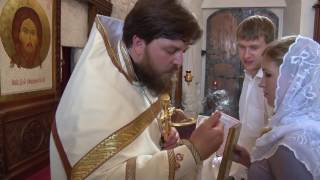 Венчание Ильи и Марины. Церковь Зачатия Иоанна Предтечи в Городище.