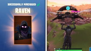 NEW RAVEN SKIN + FEATHERED FLYER! - Fortnite Battle Royale