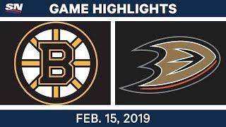 NHL Highlights | Bruins vs. Ducks - Feb 15, 2019