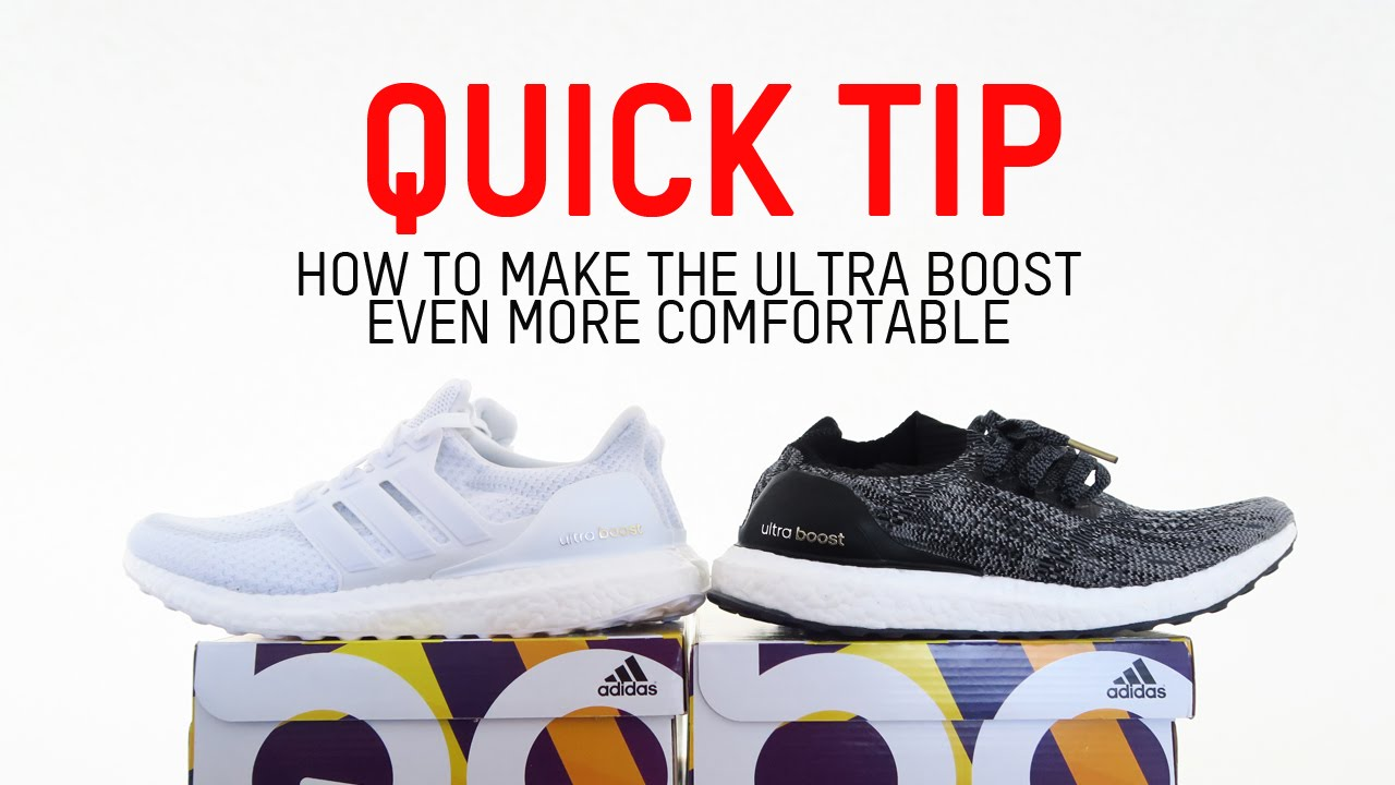 c42eafc17c74e Quick Tip  How to Make the Ultra Boost Even More Comfortable - YouTube