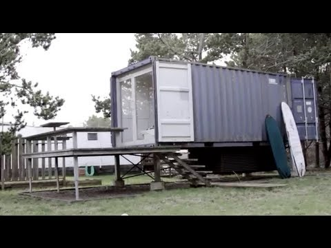 A Seattle Shipping Container Tiny House/Home... THX 1138 George Lucas inspired
