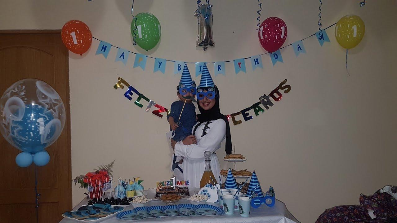 عيد ميلاد ابني فتح الهدايا تزيين البيت كاب كيك بوب كيك و