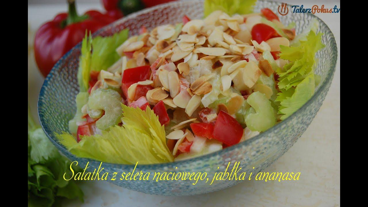 Salatka Z Selera Naciowego Jablka I Ananasa Talerzpokus Tv Youtube