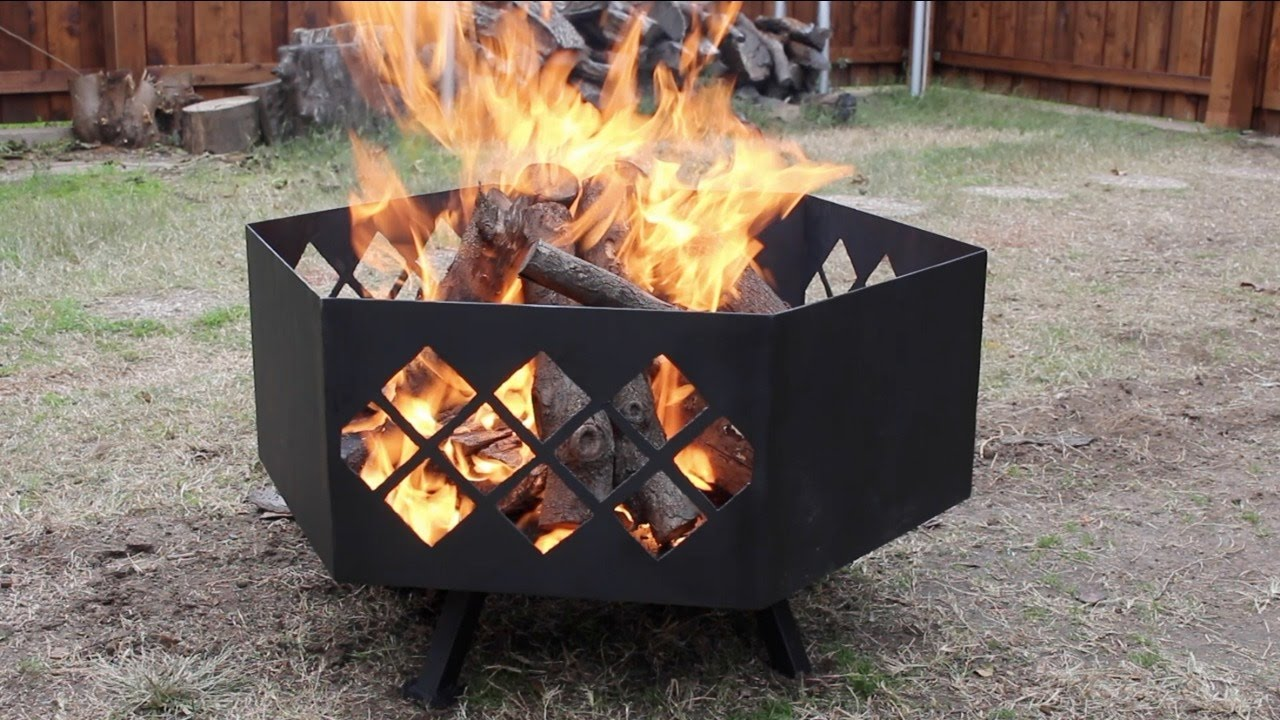 Building a Custom Steel Fire Pit - Building A Custom Steel Fire Pit - YouTube