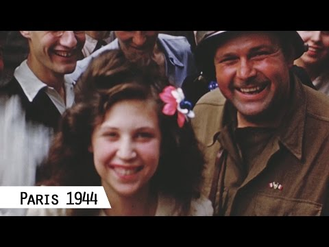 Paris - Liberation in August 1944 (in color and HD)