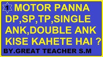 Kalyan, Main Mumbai,Milan,DP,TP,MOTOR PANNA,SINGLE-DUPBLE ANK YE KYA HAI JANIYE GREAT TEACHER S.M SE