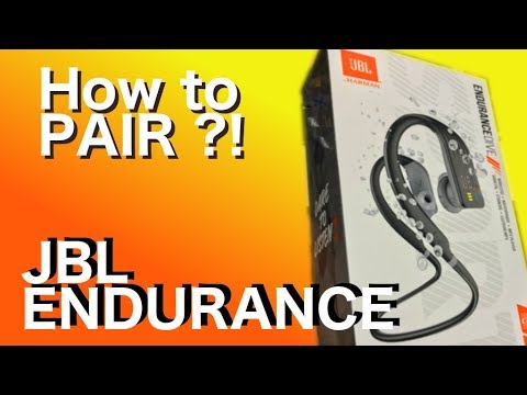 How To Pair The Jbl Endurance Wireless Sport Headphones To A Smartphone Youtube