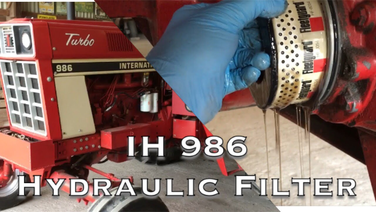 hight resolution of ih 986 hydraulic filter change