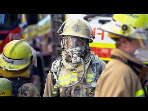 Over 100 Fire Fighters Battle Electrical Fire In Sydney CBD