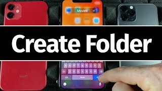 How to Create Folders in iOS 13 | iPhone 11 Pro, iPhone 11, iPhone XR, iPhone 8, iPhone 7