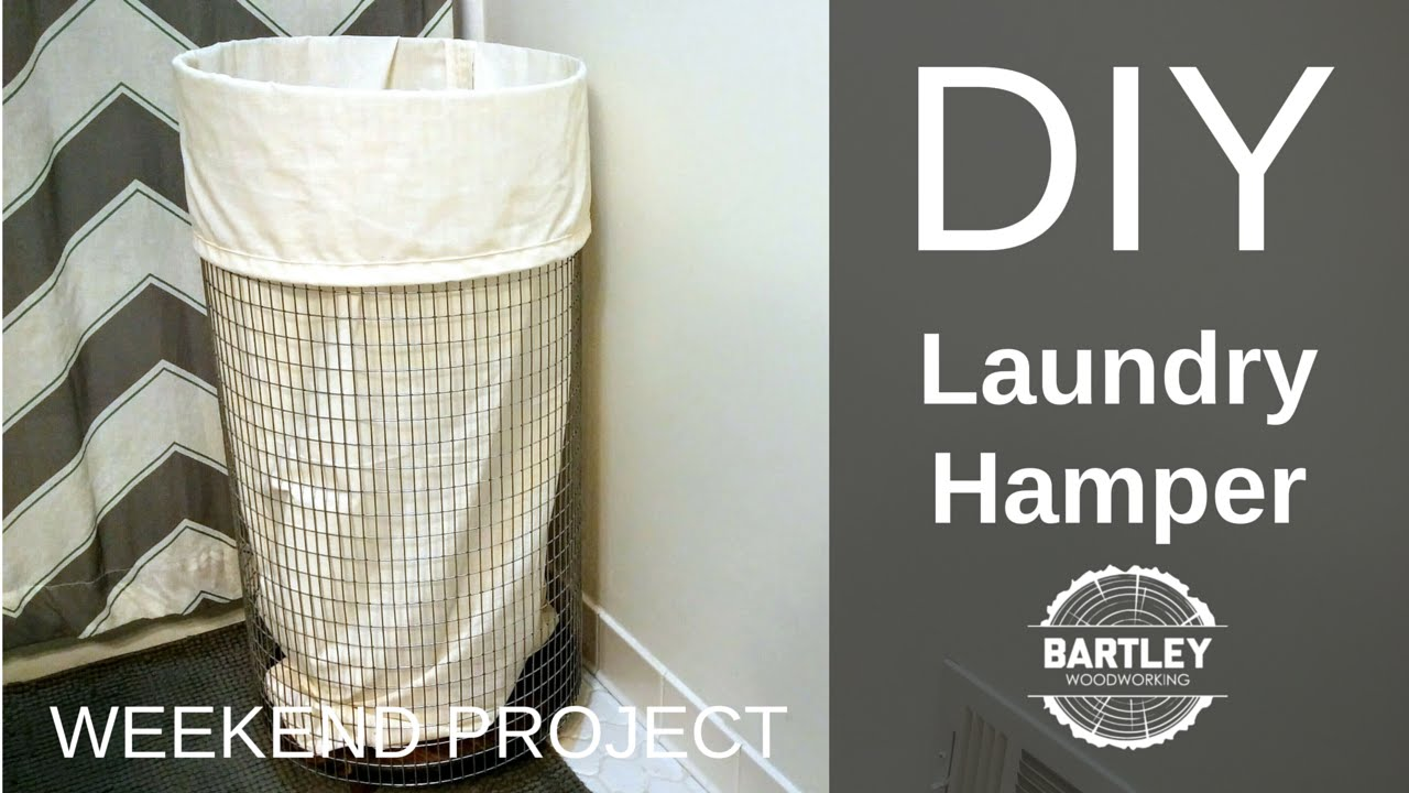Diy laundry hamper youtube diy laundry hamper solutioingenieria Image collections